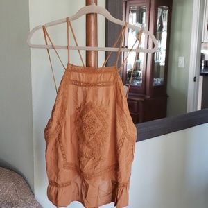 NWT Strappy Camel Camisole
